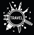 Travel and tourism logo vector image vector image