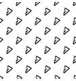 triangular carabiner pattern seamless vector image vector image