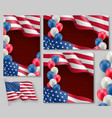 usa country patriotic banners set vector image