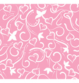 valentines day pink floral seamless with hearts vector image vector image