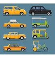 various city urban traffic vehicles icons vector image vector image