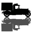 Vintage covered truck vector image vector image