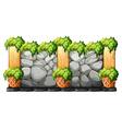 Wall made of brick stones vector image vector image