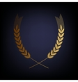 Wheat sign Golden style icon vector image