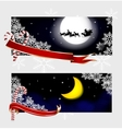 Xmas banners vector image vector image