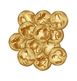 zodiacs signs on a gold disks vector image