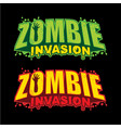 zombie invasion logo design vector image vector image