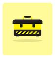 flat icon tool box vector image