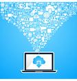 Social media network notebook vector image