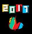 2017 Year of Rooster vector image