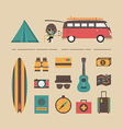 178van travel equipment vector image vector image
