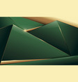 abstract polygonal pattern luxury green and gold vector image