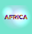 africa concept colorful word art vector image vector image
