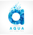 aqua a logo concept vector image vector image