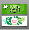 banner big sale and summer sale set vector image vector image