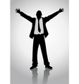 Businessman standing with open arms vector image vector image