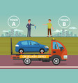 car delivery service flat vector image vector image