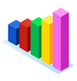 chart rising symbol element presentation vector image