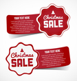 Christmas Sale Design Elements and Stickers vector image vector image