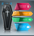 coffin icon business infographics vector image vector image