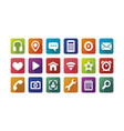colored icons for the web full set vector image vector image