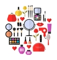 Cosmetic Makeup and Beauty flat Icons Set vector image vector image