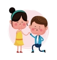 couple love proposal happy vector image