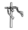 cross catholic symbol vector image