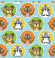 cute little animals seamless pattern vector image vector image
