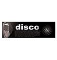 disco banner vector image vector image
