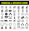 finance and business icon vector image