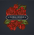 floral bouquet dark design with roses vector image vector image
