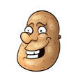 funny cartoon cute brown smiling tiny potato vector image