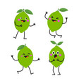funny cute lime character isolated vector image