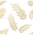 golden tropical leaves seamless pattern vector image vector image