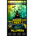 hallowen party flyer vector image vector image
