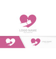 heart and like logo combination best love vector image