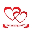 hearts icons and valentines day greeting vector image vector image