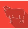 Icon Contour lamb Flat style long shadows vector image
