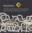 industrial technologic poster vector image vector image