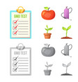isolated object of and symbol collection of vector image vector image