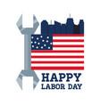 labor day celebration a patriotic event vector image vector image