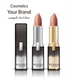 lipstick realistic packaging mock up vector image vector image