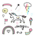 magic colorful set vector image vector image