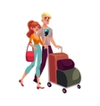 Man and woman travelling together going on vector image