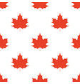 maple leaves seamless pattern leaf in flat style vector image
