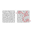 maze game labyrinth square solving puzzle line vector image