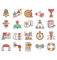 mentoring linear color icon set coaching sport vector image vector image