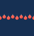 merry christmas cricket seamless horizontal vector image vector image
