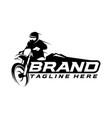 motocross logo template vector image vector image